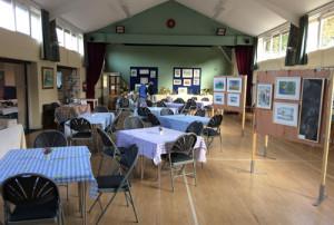 hall set for tea